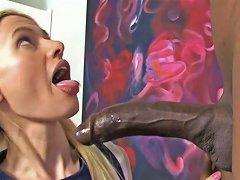 Playful Blonde Bimbo Kennedy Kressler Sucks Yummy Bbc