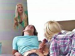 Milf Holly And Teen Aubrey Suck A Dick