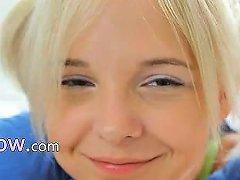 18yo Blond Teasing And Stripping