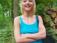 Perky Blond Amateur Fucks In Woods