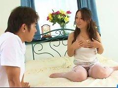 Ruhime Maiori Japanese Mom Enjoys Young Cock