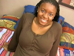 Busty Ebony Teen Eunique Blows A Guy In Amateur Pov