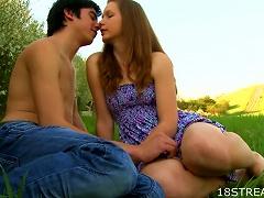 Great Outdoor Sex With The  Teen Klara