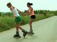 Pair Of Kinky Teenagers Go Into The Wild To Get Full-lesbian