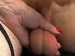 Femdoms Taunt Bound Losers Cock