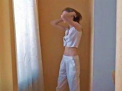 Skinny Super Teen Naked On The Floor