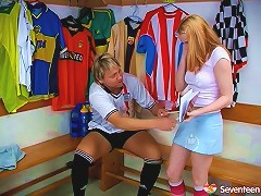 A Cute Redhead Gets Nailed By Her Coach After Practice