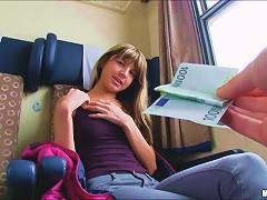 Teen Gina Gerson Nailed In A Train Cabin
