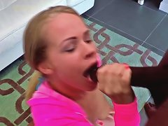 Young Blonde Britney Young Handles Bbc