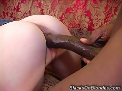 Pigtailed Lynn Pleasant Takes A Huge Black Cock In Her  Pussy