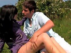 Rough Sex In A Prairie With Horny Teens