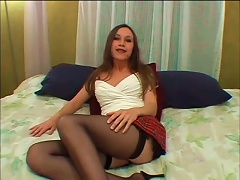 Brunette Teen Babe With Nice  Rides Big Dick And Gets A