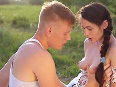 Gorgeous Teen Arwen Is Finally Ready To Have Sex In The Wilderness