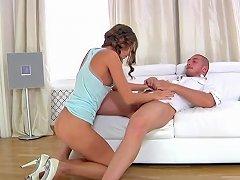Long Legged Beauty Takes Meaty Pole Between Her Buns