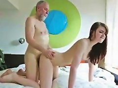 Old Pervert Fucks Cute Teen